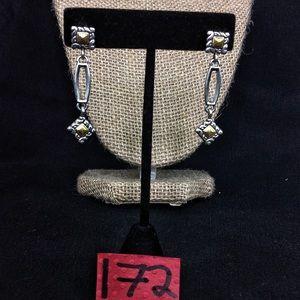 Retired Brighton Silver Dangle Earrings